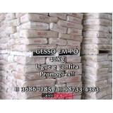 onde vende saco de gesso para reboco Campo Belo