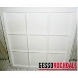 plaquinha de gesso para parede 60x60 preço Caieiras
